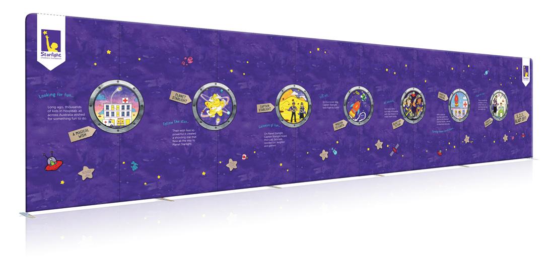 Vivid Captain Starlight's Story Wall